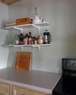 Shelving in the kitchen